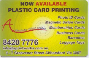 Printed Plastic Cards. Plastic Card Printing Services.